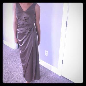 Bcbg satin long gown